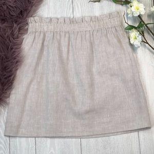 J. Crew Skirts - J Crew 100% Linen City Mini Skirt